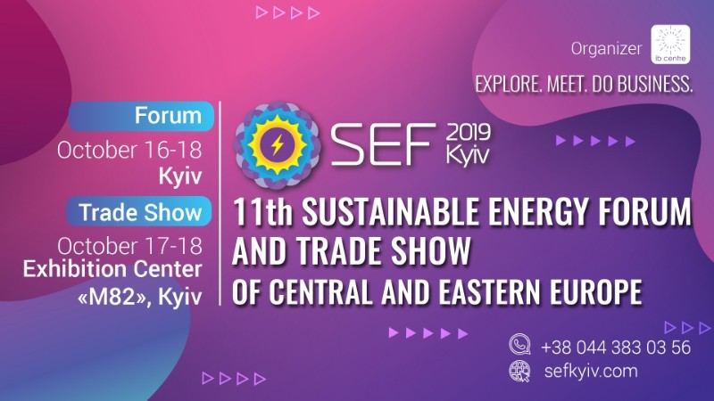 11th Sustainable Energy Forum and Trade Show of Central and Eastern European (SEF 2019 KYIV) logo