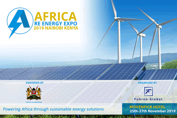 Africa Renewable Energy Expo 2019 logo